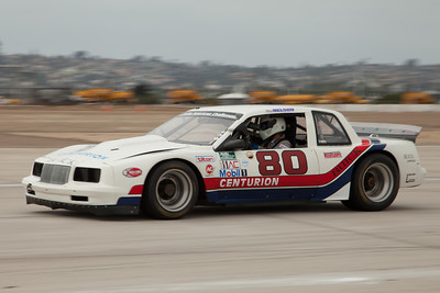 Steve Nelson and his 1985 Buick Somerset during Friday practice.