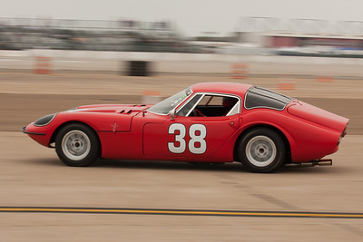 Mike  Denman's #38 1966 Marcos 1800 GT.