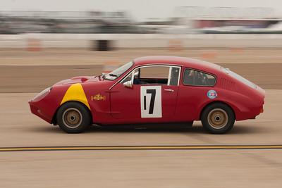 Steve Schmidt at speed in his 1965 Mini Marcos MkIII GT.
