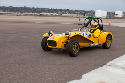 Andrew Barron in his 1969 Lotus Seven. © 2014 Victor Varela