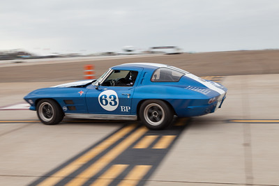 Chad Manista catches the back end of his 1963 Chevrolet Corvette. © 2014 Victor Varela