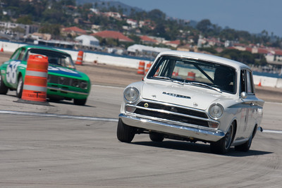 Robert Spriggs in his1966 Lotus Cortina. © 2014 Victor Varela