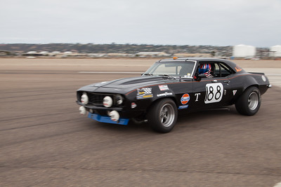 Greg Johnson enters turn 10 in his 1969 Chevrolet Camaro. © 2014 Victor Varela