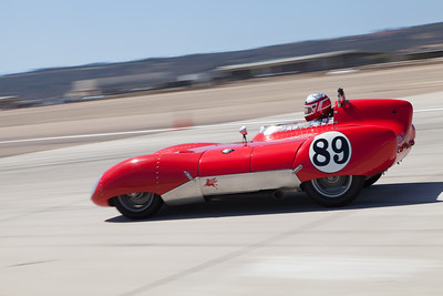 John Hurabiell prepares to enter turn 10 in his 1956 Lotus Eleven. © 2014 Victor Varela