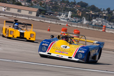 Mike Thurlow in his 1973 Lola T-294. © 2014 Victor Varela