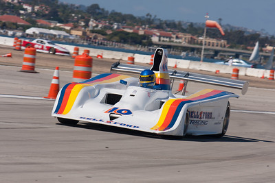 Brent Berge and his 1978 Lola T133.  © 2014 Victor Varela