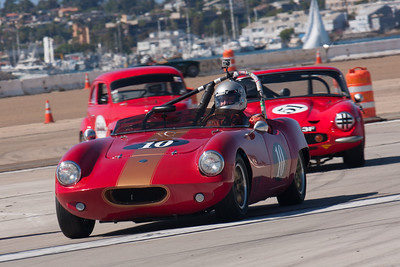 Wes Abendroth in his 1961 Elva Courier. © 2014 Victor Varela