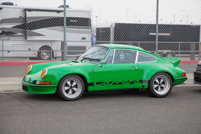 A beautiful green Porsche 911 Carrera