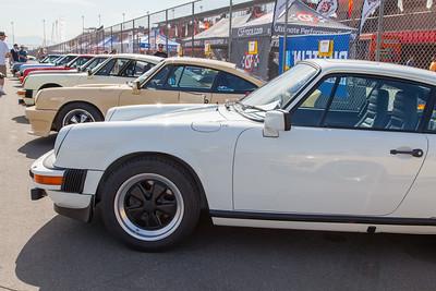 Variety of Porsche 911s on display