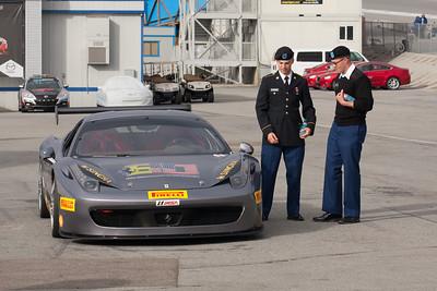Cadets admiring the 458 Challenge EVO. © 2014 Victor Varela