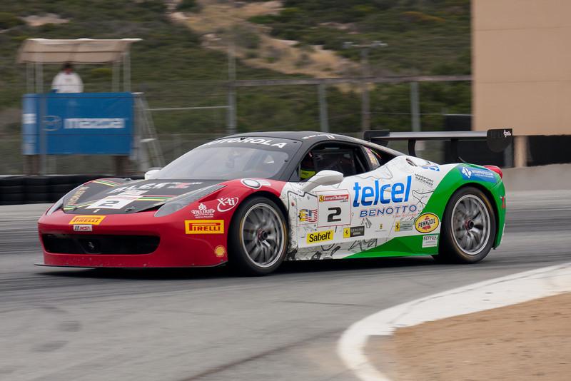 Ricardo Perez in the #2 Ferrari 458 EVO. © 2014 Victor Varela