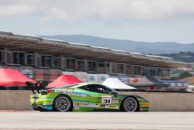 Damon Ockey rounds turn 11 in the #31 Ferrari 458 EVO. © 2014 Victor Varela