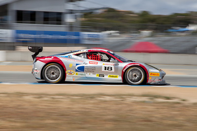 James Weiland in the #18 Ferrari 458 EVO. © 2014 Victor Varela