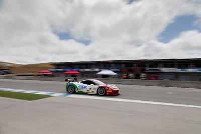 Ricardo Perez races down the front straight in the #2 Ferrari 458 EVO. © 2014 Victor Varela