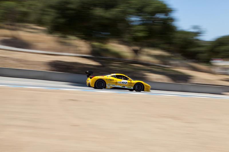 Rich Baek in the #87 Ferrari 458 EVO. © 2014 Victor Varela