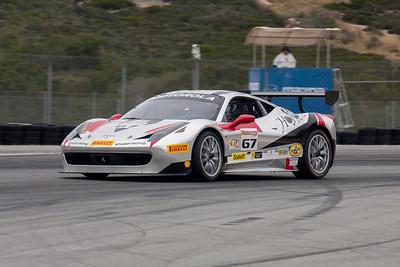 Johm Horejsi in the #67 Ferrari 458 EVO. © 2014 Victor Varela