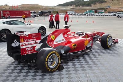 Formula 1 Ferrari F138 on display at Laguna Seca. © 2014 Victor Varela