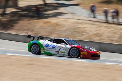 Ricardo Perez heads towards turn 9 in the #2 Ferrari 458 EVO. © 2014 Victor Varela