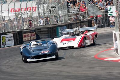 Eric Haga - 1965 McLaren M1A, Claude Malette - 1971 Lola T222