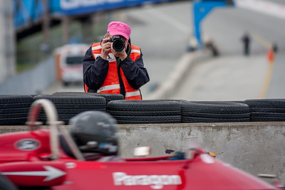 Dennis Gray capturing the action on the inside of turn 11