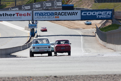 The Mazda Raceway Laguna Seca front straight.