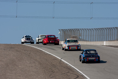 Jeff Zwart - Porsche 911 Carerra RSR, leads the pack up Rahal Straight