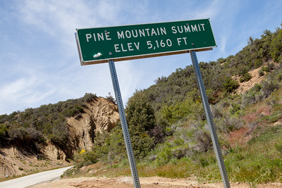 The Pine Mountain Summit - 5160 ft. elevation