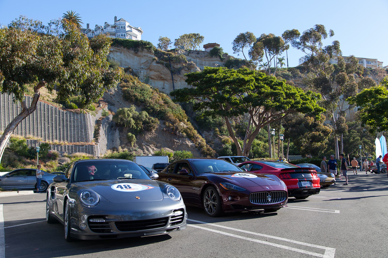 The staging area for the 2017 Steve McQueen Rally - Dana Point, Californa