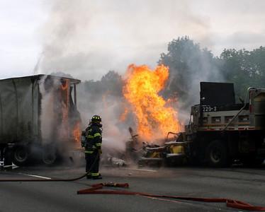 Roxbury Township Rt. 80 MVA With Fire