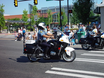 City of Renton (Washington) Police office on a BMW motorcycle