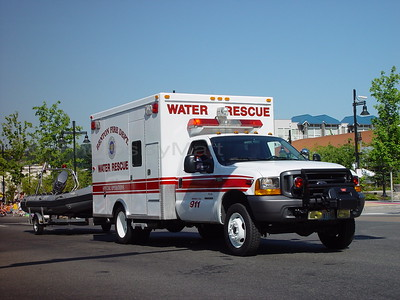 City of Renton (Washington) Rescue vehicle with rescue boat