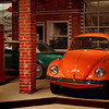 Orange Volkswagen Beetle. Auto World Museum, Fulton, Missouri.
