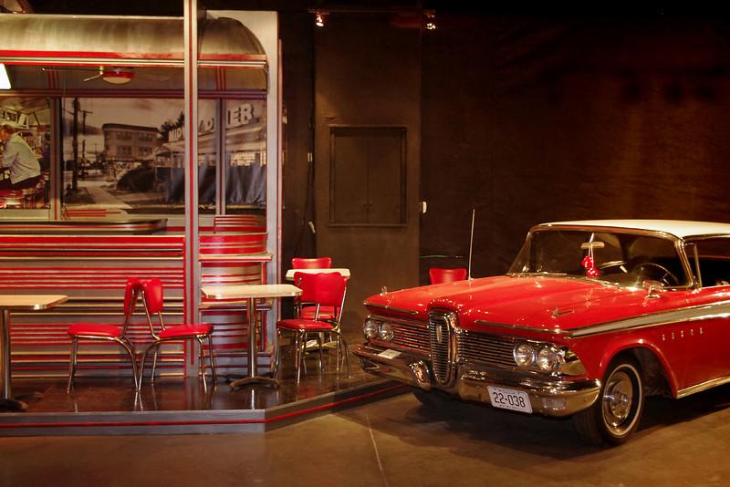 Edsel and diner. Auto World Museum, Fulton, Missouri.