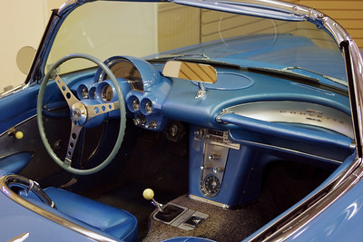 Interior of 1961 Chevrolet Corvette Roadster. Branson Auto Museum