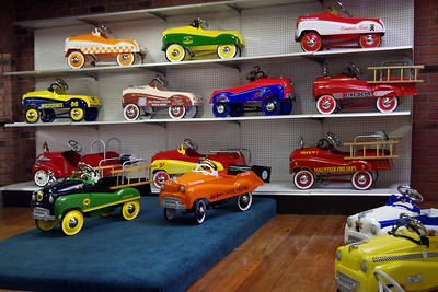 Pedal Cars on display at the Branson Auto Museum.