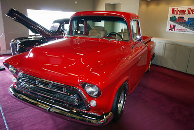 1955 Chevy short bed pick up - custom. Branson Auto Museum