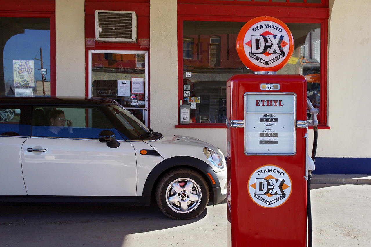 DX Station, on old Route 66, Afton, Oklahoma. <br /> <br /> Does the MINI like Ethyl?