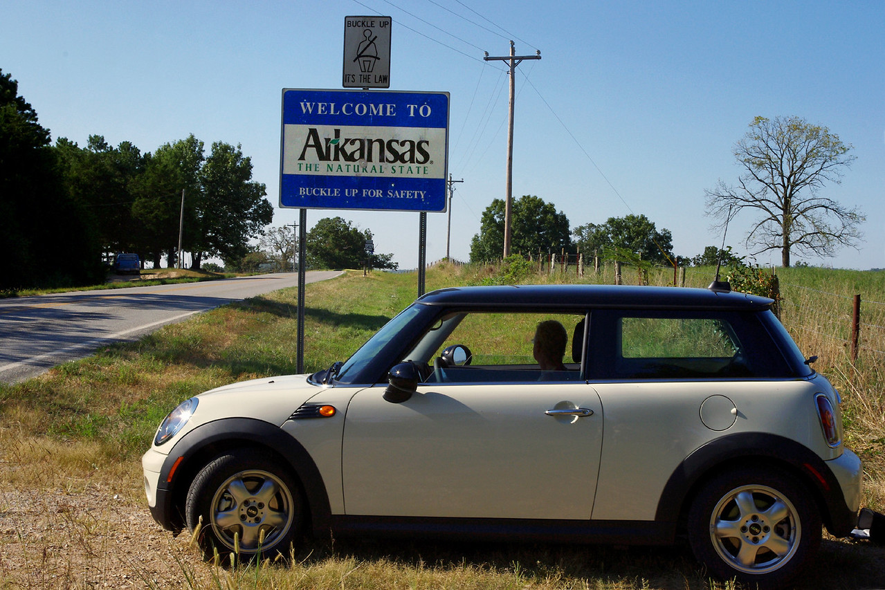 MINI Cooper, Arkansas State line.