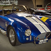 1965 Shelby Cobra MKIII, or more specifically, an identical replica produced by the Superformance Company in 2003, under license from Carroll Shelby Licensing, Inc. On display at the Route 66 Car Museum on College Street, Springfield, Missouri.