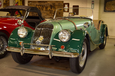 1963 Morgan +4. Route 66 Car Museum, Springfield, Missouri. Only 4,584 were produced between 1950-1964.