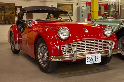 1962 Triumph TR3B. Route 66 Car Museum, Springfield, Missouri.