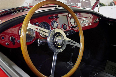 Dash detail, 1957 MGA. Private collection in Springfield, Missouri. Now the Route 66 Car Museum.