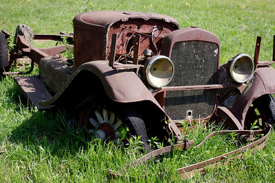 Remains of an antique car, nature trail, Gaston's Resort, Lakeview, Arkansas.
