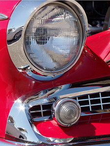 1959 Studebaker Silver Hawk, headlight detail. 47th Annual Studebaker Drivers Club Meet, Springfield, MO. June 23, 2011.