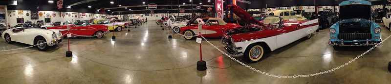 Tupelo Automobile Museum, Mississippi. Rita took this panorama with her iPhone.