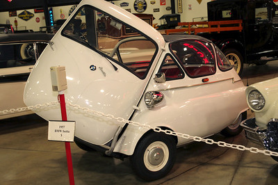 1957 BMW Isetta. For some reason, Leonard Lord, head of the British Motor Company, hated the German bubble cars like this one, and the Messerschmitt. After European fuel shortages following 1956 Suez Crisis, his instructions to the BMC design team, headed by Alec Issigonis, was to make a proper miniature car to rid the streets of bubble cars. The result in 1959 was the Morris Mini-Minor, later known as the Mini.
