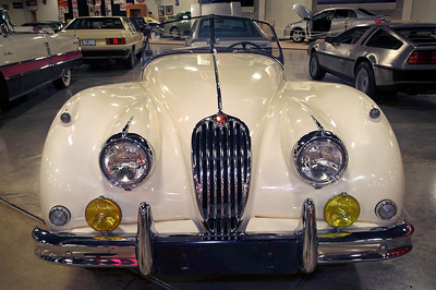 1955 Jaguar Mark XK140; Tupelo Automobile Museum, Mississippi.