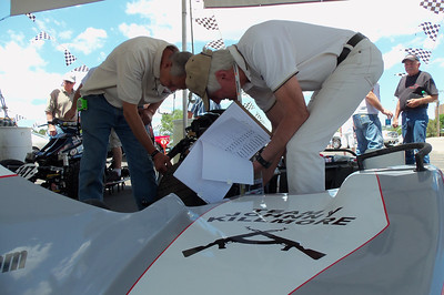 The bike goes through Technical Inspection.