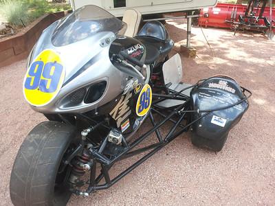 Hans' bike.