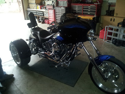 Dennis Wagner finished this sick trike since we last saw it in 2011.